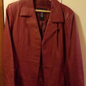 Women's leather coat size M
